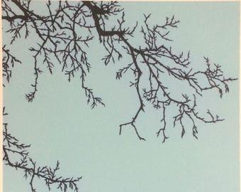 Winter Tree - Print from original papercut A3