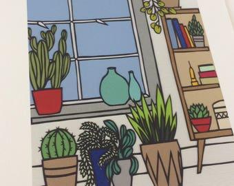 Interior Jungle - Print from original papercut art