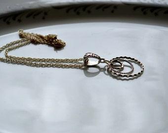 Concentric circle necklace, circle necklace, circle pendant
