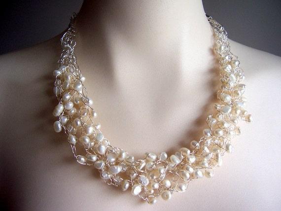 Perle Draht Häkeln Halskette Draht Häkeln Perle Etsy