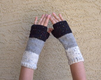 Wool arm warmers knitted fingerless gloves gift for her womens accessories Fall Thanksgiving Christmas gift under 35 gift for friend