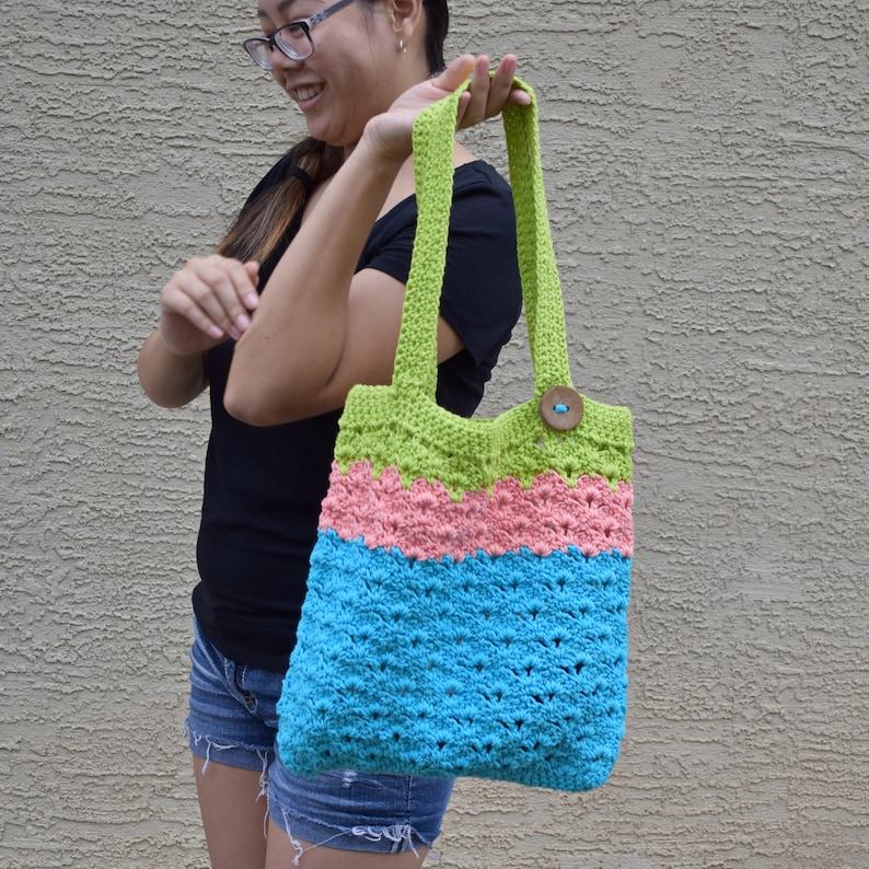 Tote Bag cotton for Her eco shopping bag Tote Shopper handmade Reusable Market Bag Market Tote Bag 100/% Cotton Crochet Shoulder Bag