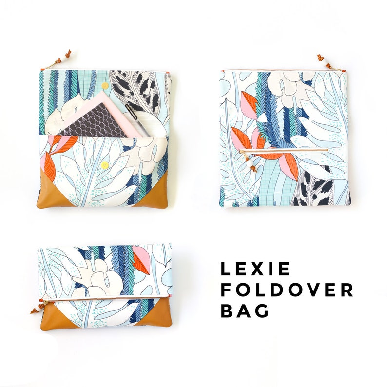 PDF Sewing Pattern and Tutorial Lexie Foldover Bag
