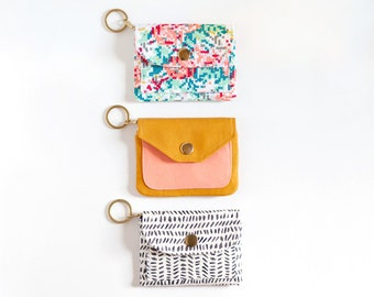Wallet Pattern   PDF Sewing Pattern   Samstag Wallet   Zipper Wallet   DIY Wallet   Card Wallet Pattern    Keychain Wallet