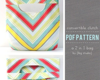 PDF Sewing Pattern - Fold Over Clutch / Tote Bag
