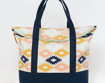 Tote Bag Sewing Pattern   Senna Tote   PDF Pattern   Shoulder Bag