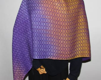Poncho/Shawl/scarf Handwoven Tencel Turned Twill  Three color ways and styles