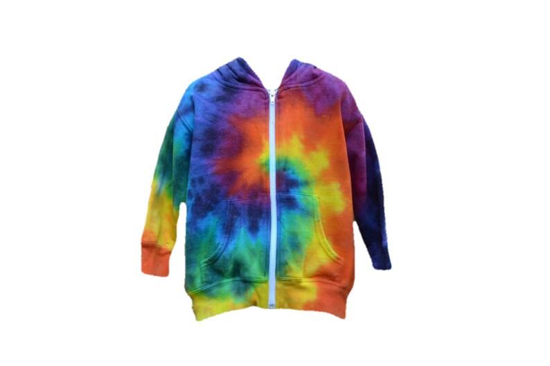 92e32418 Childrens Tie Dye Hoodie Rainbow Toddler Fleece Hoodie | Etsy
