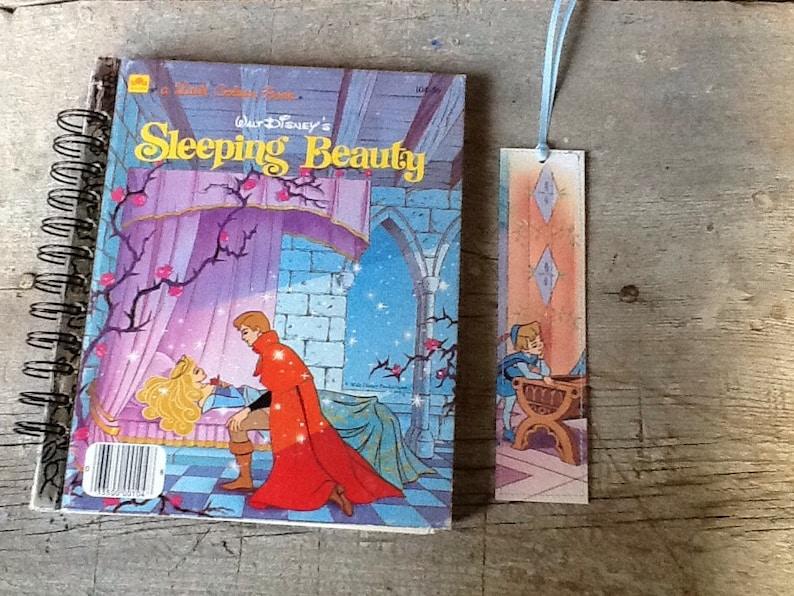 sleeping beauty notebook/journal/guest book from a vintage little golden  book