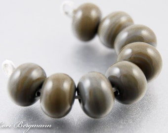Rustic Brown Lampwork Spacer Beads, Handmade Glass Jewelry Supplies