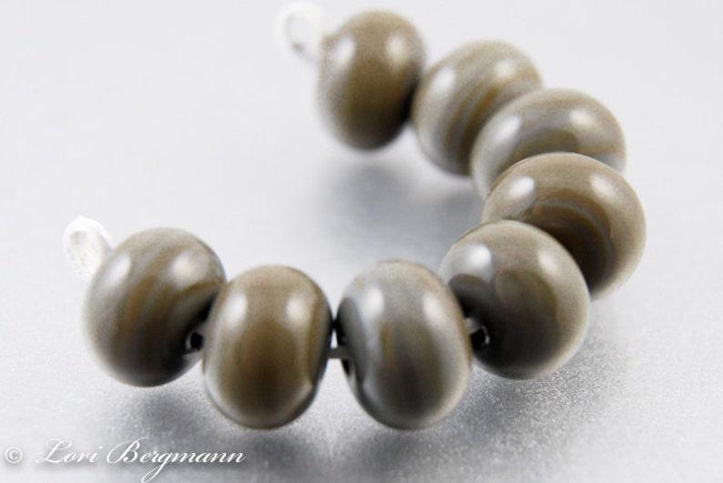 Rustic Brown Lampwork Spacer Beads SRA Handmade Glass Jewelry image 0