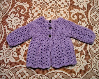 778c93593f52 Yellow Handmade Baby Sweater 3 to 6 months Crochet Baby Girl