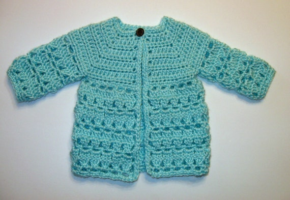 Top Down Crochet Baby Sweater Pattern Instant Download Boy Etsy