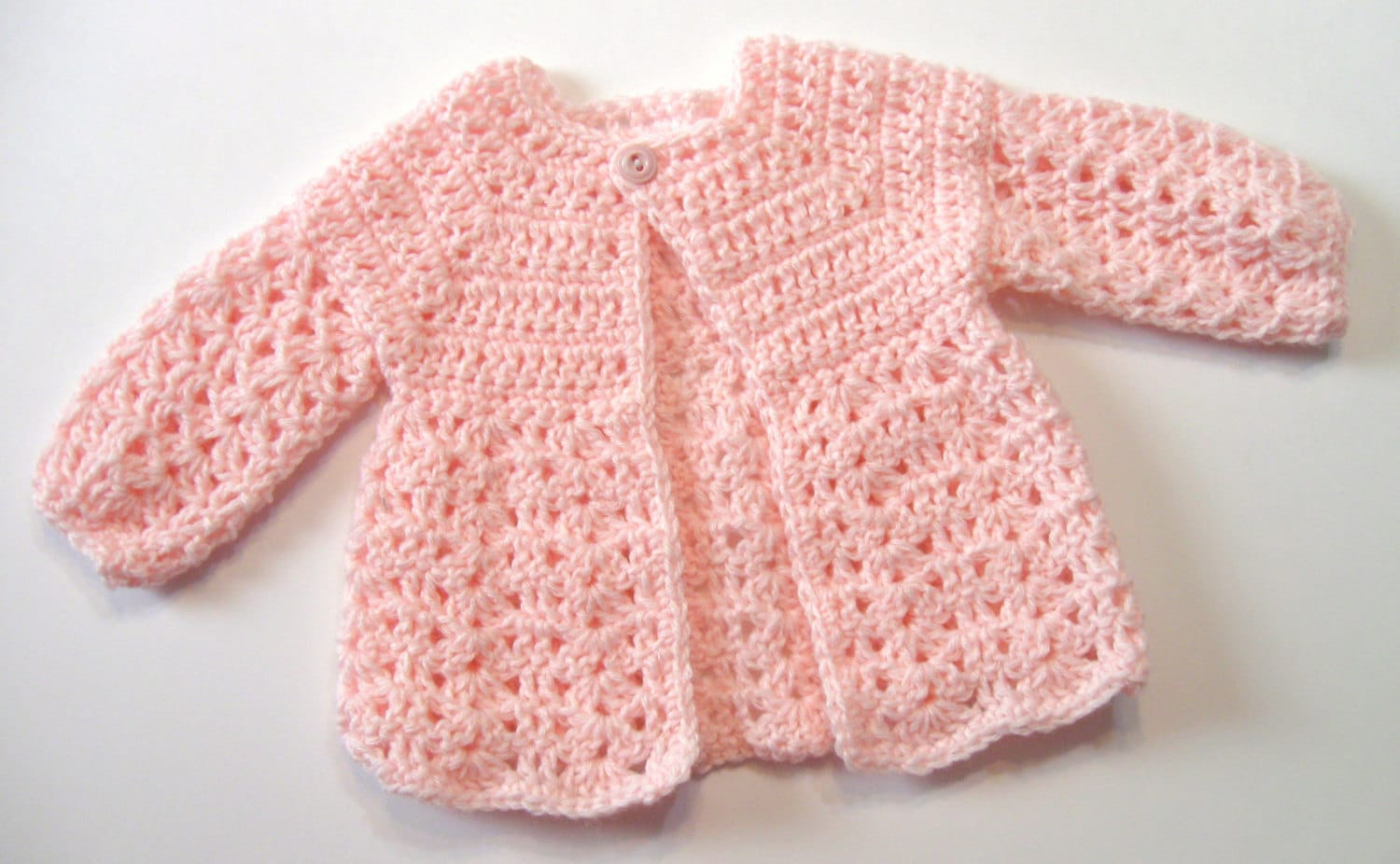 62154bf81fd8 Crochet Pattern Baby Sweater Perfect for Girls Oma s