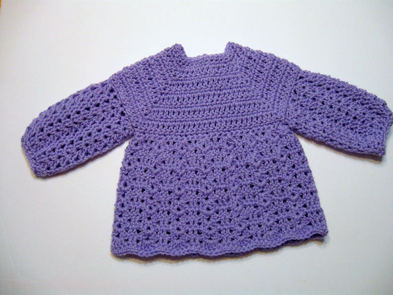 c679ee5b8 Crochet Baby Sweater Pattern 12 Month Size Download