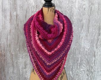 Handmade Shawl, Crochet Shawl, Shawl, Wrap, Bridal Shawl, Bridesmaid Shawl, Winter Wrap, Shoulder Scarf, Triangle Scarf, by NormasTreasures