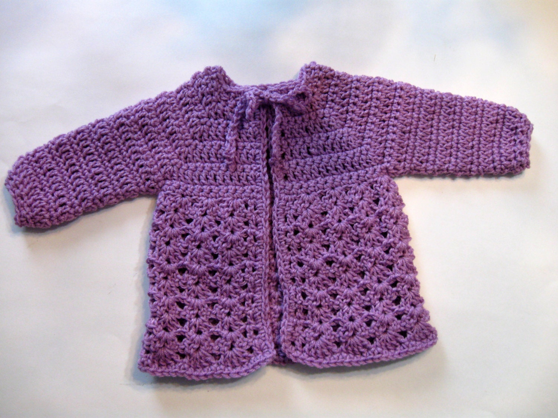 Instant Download Crochet Baby Sweater Pattern Beginner Etsy