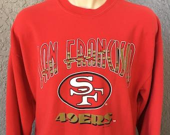 San Francisco 49ers NFL 1993 red vintage sweatshirt size XL 6c21d65c0