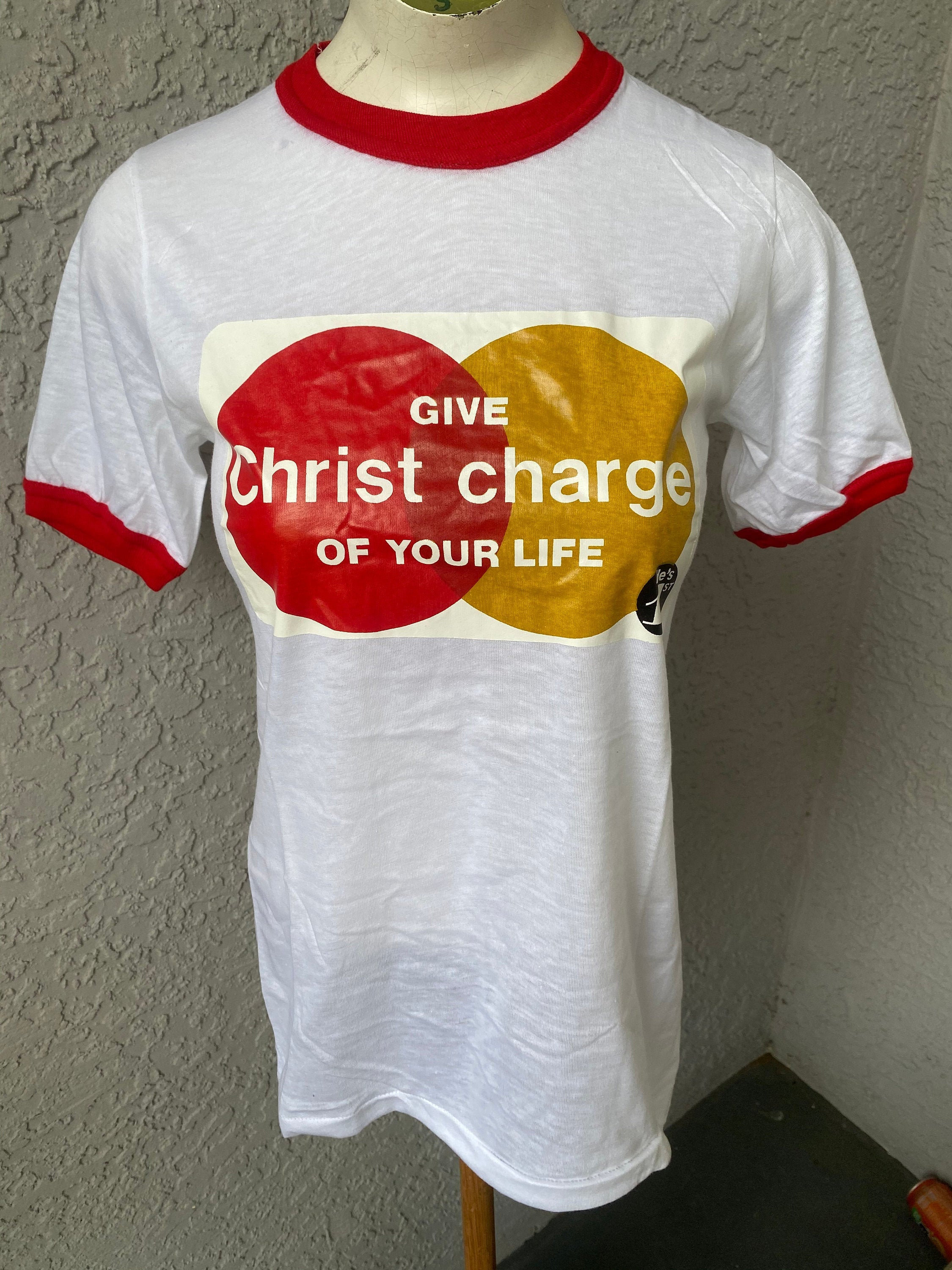 80s Tops, Shirts, T-shirts, Blouse   90s T-shirts Give Christ Charge Of Your Life 1980S Vintage Ringer T-Shirt - Size Small $17.00 AT vintagedancer.com