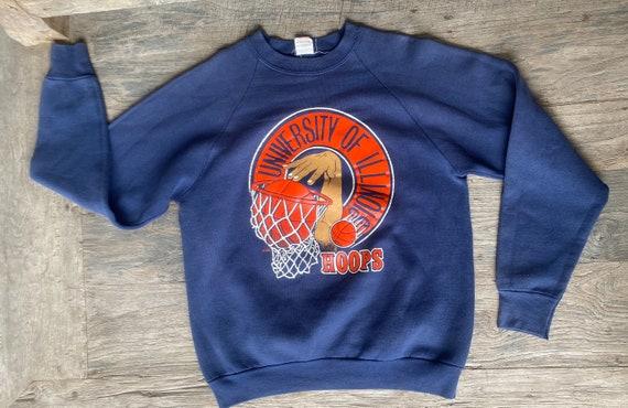 University of Illinois Hoops 1980s vintage sweatsh
