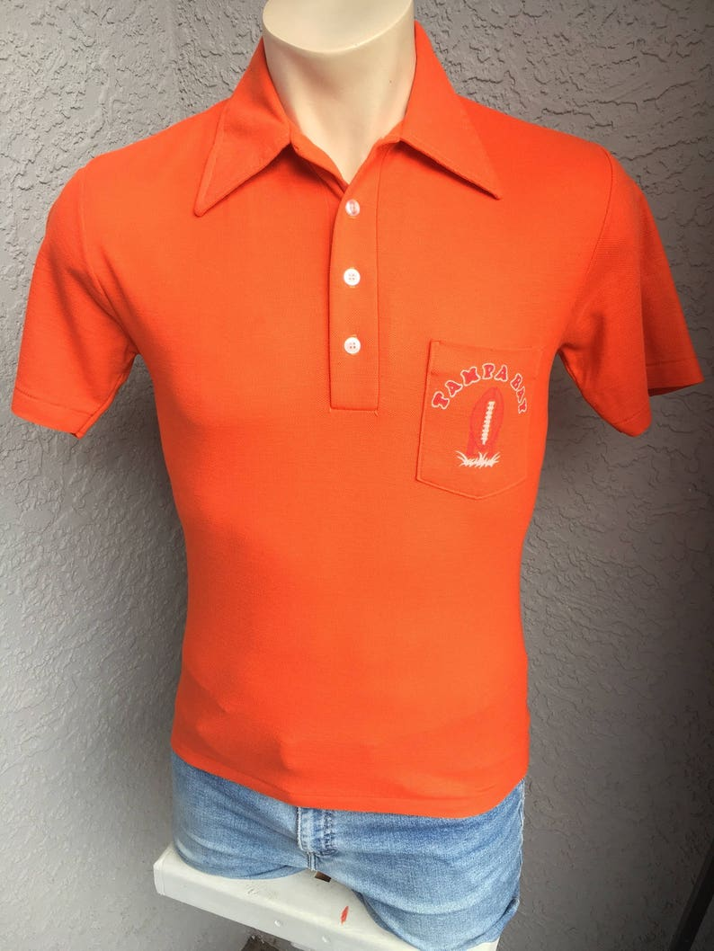 4047ea28 Tampa Bay Buccaneers NFL 1970s vintage collared polo shirt - size small/med