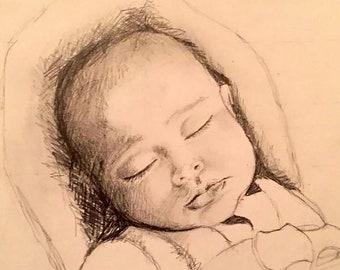 Custom Child Portrait  - Drawing From Your Photo - Single Subject - A Unique Gift