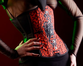 Samples READY TO SHIP - Halo Zix Corset 19 inch Underbust Steel Boned Neck Corset chaos couture Corsetry