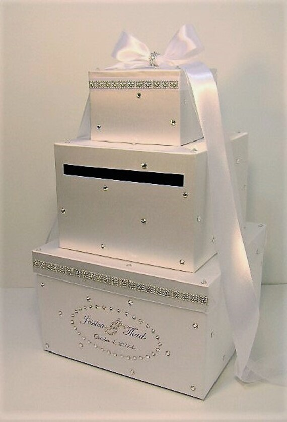 Wedding Card Box White Gift Card Box Money Box Holder Customize Your Color