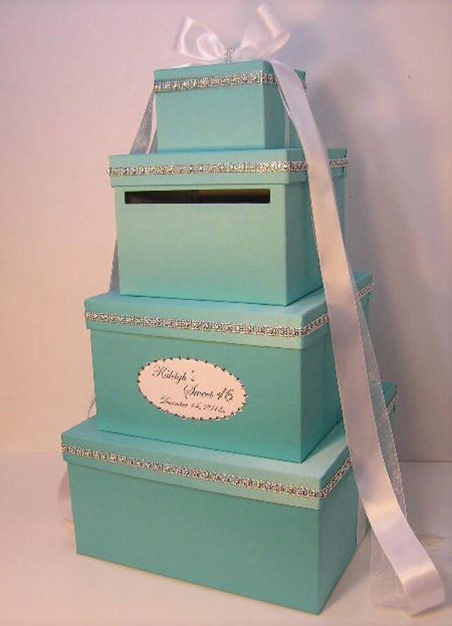 Super Large 4 Tier Wedding Card Box Quinceanera Sweet 16 Birthday