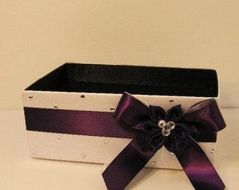 Wedding  Program Box Amenities Box Bathroom Accessories Box handkerchiefs Box White - Customize your color