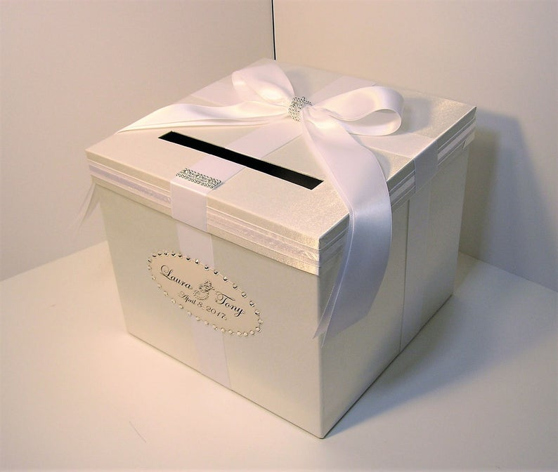 Wedding Quinceanera Sweet 16 Card Box White Gift Card Box Money Box Holder Customize In Your Color 10x10x9 Custom Made
