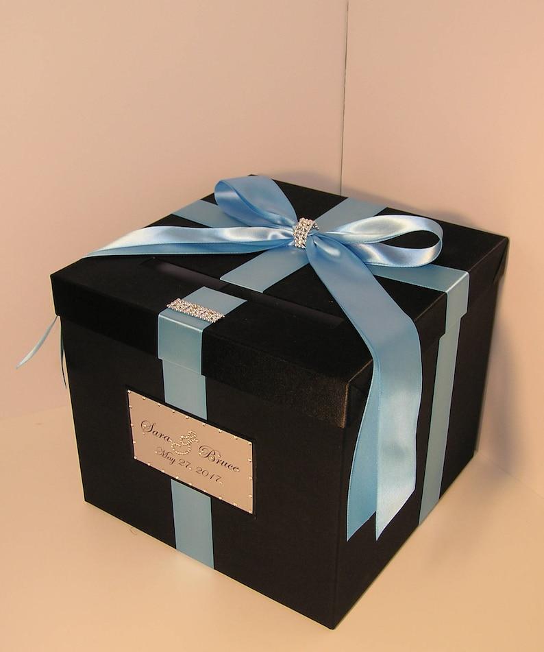 wedding quinceañerasweet 16 card box black and hot