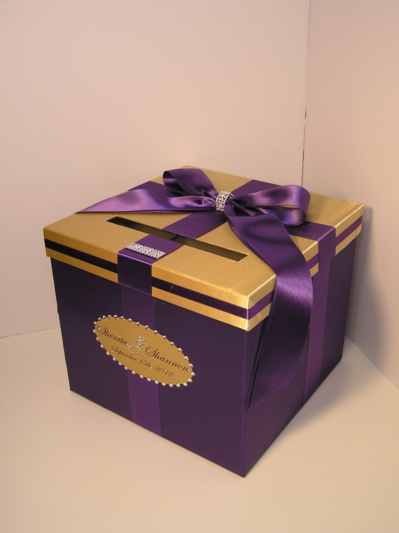 wedding quinceañerasweet 16 card box lavender and silver