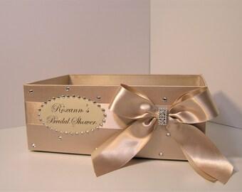 Wedding  Program Box Champagne  Amenities Box Bathroom Accessories Box handkerchiefs Box - Customize your color (One Box)