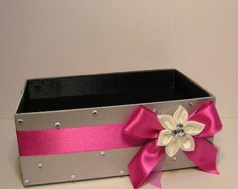 Wedding  Program Box Amenities Box Bathroom Accessories Box handkerchiefs Box - Customize your color