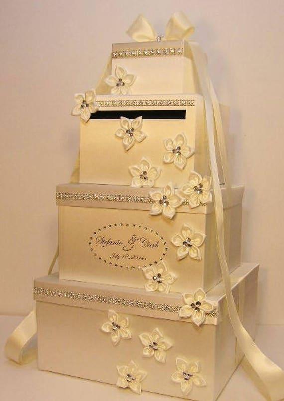 Super Large 4 tier Wedding Card Box/Quinceañera/Sweet | Etsy