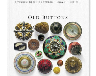 Old Buttons Book by Sylvia LLewelyn (A Guide to Antique and Vintage Buttons) plus Price Guide