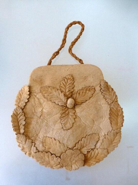Austrian Mushroom/Toadstool Fabric Evening Bag