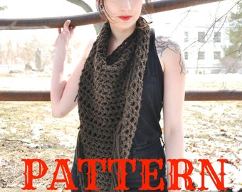 Fringed Triangle Scarf Pattern