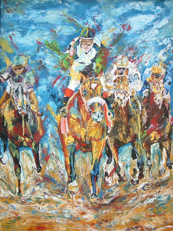 Barbaro Horse Racing limited edition print giclee' signed