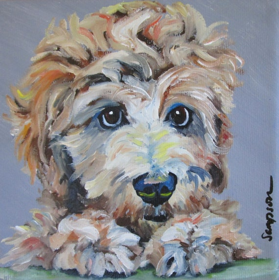 "Oil Painting portrait 6""x6""of any pet Original on canvas"