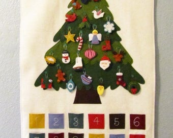 Felt Advent Calendar Pattern, Instant Download PDF, Christmas Advent Wall Hanging, Christmas Sewing Pattern