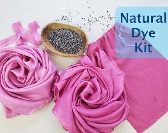 Natural Dye Kit, Dye Your Own Pink Play Silks, Cochineal Dye Kit, Natural Dye Tutorial, Silk Scarves, Shibori Kit