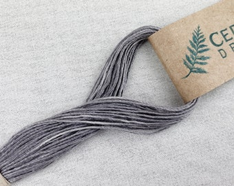Light Gray Plant Dyed Silk Embroidery Floss (G4), Peace Silk Embroidery Floss, Natural Dye Hand Sewing Thread, Plant Dye