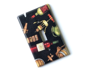 Wine Lover Light Switch Plate Cover