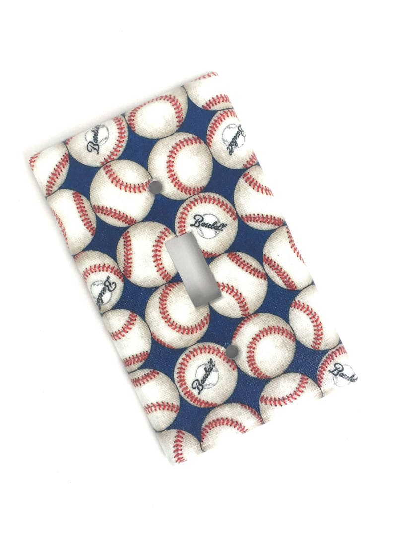 Baseball Light Switch Plate Cover image 0