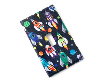 Rocket Space Light Switch Plate Cover