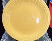 Original Fiestaware Dinner Plate, Yellow, Sunflower Yellow, Homer Laughlin, 1940