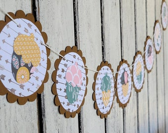 Fall Acorn Garland - Colorful Hanging Thanksgiving Banner - Fall colored acorns - Shabby Chic Home Decoration - Woodland acorns - Arrows