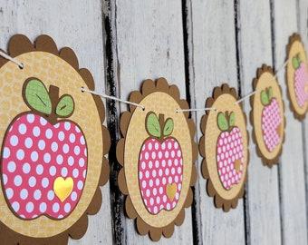 Fall Apple Garland - Polka Dot Apple Banner - Autumn Apple Garland - Back to School Banner - Home Decor